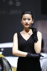 2013广州车展 阿斯顿·马丁车模展现极致诱惑